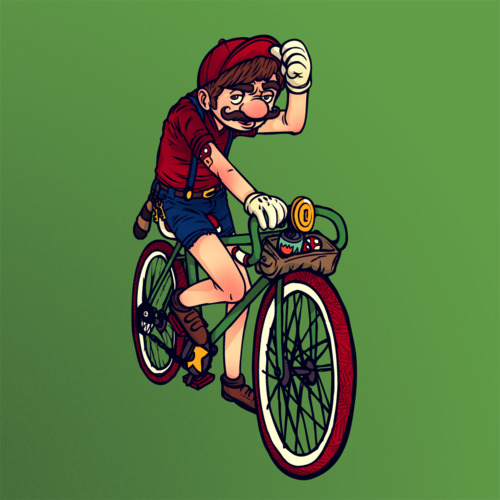 Fixie-Hipster-Mario