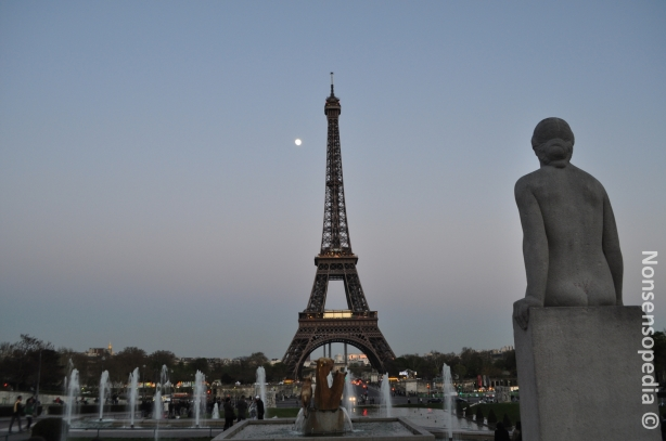 Eiffel and moon