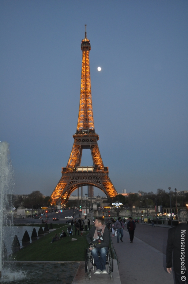 Eiffel with lights