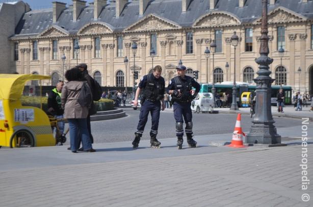 Police on skates