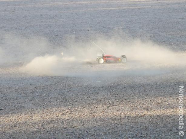 buggy donut dust cloud