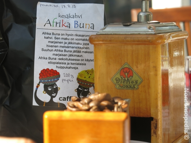 Kesäkahvi Afrika Buna ja myllynä PeDe